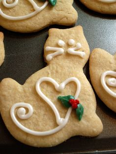 Christmas shortbread with candied orange and thyme - HQ Recipes Christmas Cats, Christmas Goodies, Christmas Baking, Cat Cookies, Cupcake Cookies, Tree Cookies, Cookie Icing, Cupcakes, Holiday Treats