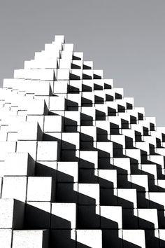 Sol LeWitt | Four-Sided Pyramid, National Gallery of Art Sculpture Garden.