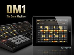 Fantastic drum machine app.  Allows you to create patterns using a step sequencer or by playing them in live through drum pads.  Automatic quantize and loop recording.  Can export as WAV or AAC and has multiple sharing options.