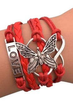 Love butterfly bracelets