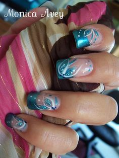 unhas decoradas nails by monibela, via Flickr