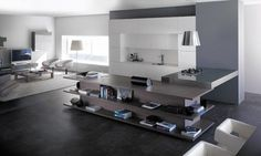 extraordinary living room kitchen interior #kitchenliving #livingroom #kitchen