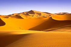 Deserts in Africa | This is the image many people have of the Sahara: a vast sea of sand ...