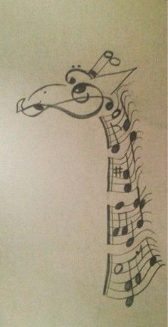A combination of two of my favorite things: giraffe and music!