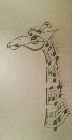 Beautiful giraffe tattoo design