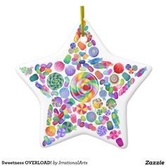 Sweetness OVERLOAD! Double-Sided Star Ceramic Christmas Ornament