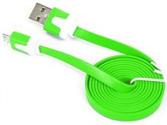 """myLife Bright Green {Solid Flat Noodle Design} 6' Feet (1.8 Meter) Quick Charge USB 2.0 Micro USB to USB Data Sync Cord for Phones, Cameras, Tablets and GPS Devices """"SEE COMPATIBILITY"""" (Durable Rubber Coat) myLife Brand Products http://www.amazon.com/dp/B00O91G9MY/ref=cm_sw_r_pi_dp_nP-tub157AKEN"""