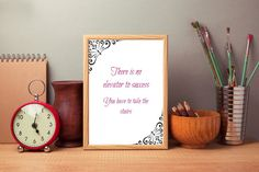 Motivational digital print There is no by SimpleWordsByRoxana Digital Prints, Digital Art, Take The Stairs, Motivational, My Etsy Shop, Wall Decor, Place Card Holders, Success, Unique Jewelry