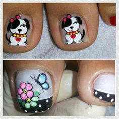 Pretty Toe Nails, Pretty Toes, New Nail Art Design, Nail Art Designs, Mani Pedi, Pedicure, La Nails, Toe Nail Art, Lily