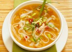 Chicken soup has seemingly mystical properties. Try these alternatives to classic chicken-noodle soup next time you're under the weather--or you just want something warm to eat. Dutch Recipes, Easy Soup Recipes, Cooking Recipes, Healthy Asian Recipes, Healthy Soups, Vietnamese Recipes, Healthy Food, Chicken Noodle Soup, Thai Chicken
