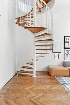 I have dreams of putting a spiral staircase in a house someday, somewhere. Maybe at the new mountain house? Into the kids attic space? Interior Design Inspiration, Home Decor Inspiration, Home Interior Design, Interior Styling, Interior Architecture, Interior And Exterior, Modern Interior, Appartement Design, Attic Spaces
