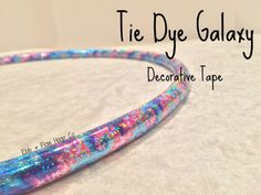 """POLYPRO Tie Dye Galaxy Deco Taped Hoop - INCLUDES Clear Protective Tape & Inner Gaffer - 3/4"""" or 5/8"""""""