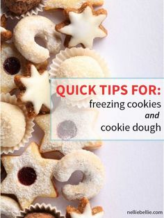 quick tips for freezing Christmas cookies, freezing baked cookies, freezing cookie dough. freezing cookies, From nelliebellie.com