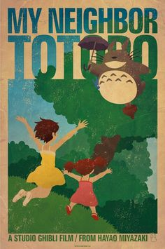 My Neighbor Totoro -a 1988 Japanese animated fantasy film written and directed by Hayao Miyazaki and produced by Studio Ghibli- One of the movies I love!!!