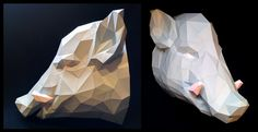 Boar Mount Papercraft by Gedelgo.deviantart.com on @DeviantArt