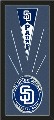 San Diego Padres Wool Felt Mini Pennant & San Diego Padres Team Logo Photo - Framed With Team Color Double Matting In A Quality Black Frame-Awesome & Beautiful-Must For A Championship Team Fan! Most NFL, MLB, NBA, Teams Available-Plz Mention In Gift Message If Need A different Team Art and More, Davenport, IA http://www.amazon.com/dp/B00I1AK3LC/ref=cm_sw_r_pi_dp_.vtEub0SHZRNB