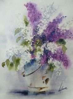 Anne Larose - aquarel-lilas-40x30-01