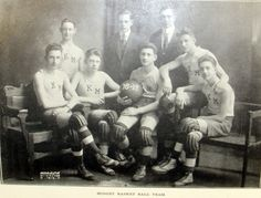 "Kingston High School: A photo of the so-called ""Midget Basketball Team"" from the 1918-1919 school year."