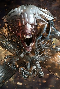 Predator Central — Alien Queen by Kevin Enhart on ArtStation Science Fiction, Creature Feature, Creature Design, Giger Alien, Arte Alien, Alien Vs Predator, Predator Series, Alien Isolation, Alien Character