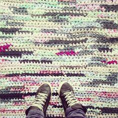 Die 84 Besten Bilder Von Teppich Häkeln Crochet Carpet Crochet