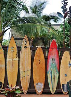 surf boards in oahu, hawaii.