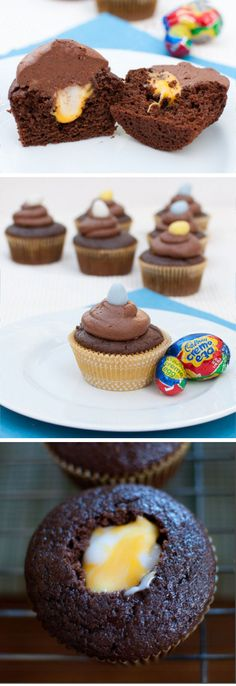 Creme Egg Cupcakes | Easy Easter Cupcake Ideas for Kids to Make