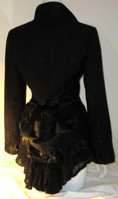 dyi bustle | ... Lolita Jacket w Bustle Steampunk Cosplay Vampire Gothic DIY 14/16 BN