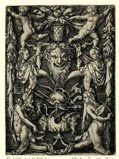 Heinrich Aldegrever (1501-1502 - 1555-61). Grotesque ornaments - Interesting and forgotten - the life and curiosities of past eras.