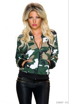 Bomber jacket σε army look - Camouflage