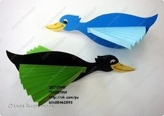 Kids Art & Craft added a new photo. 3d Paper Crafts, Bird Crafts, Paper Toys, Diy Paper, Fall Crafts, Diy And Crafts, Arts And Crafts, Autumn Activities For Kids, Animal Crafts For Kids