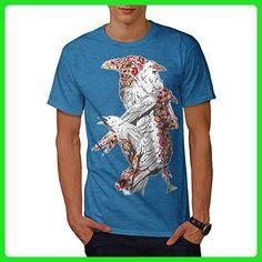 Crow Bird Cool Art Animal Men XXXXXL T-shirt | Wellcoda - Animal shirts (*Amazon Partner-Link)