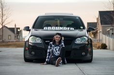 Hollie and her MK5 GTI #stance #volkswagen #gti #lowered
