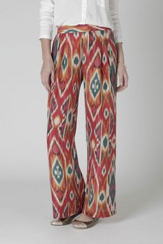 I'd never pay $148 for pajama pants (or for any pants, for that matter), but if I had these, I would wear them out with a simple black tank and hippie sandals in the summer. They're too cute to be hidden inside!