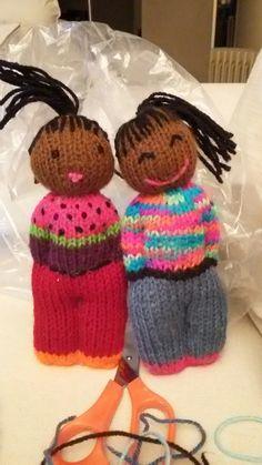 Duduza dolls Knitting Dolls Free Patterns, Knitted Dolls Free, Loom Knitting Projects, Easy Knitting, Crochet Dolls, Doll Patterns, Knit Crochet, Crochet Patterns, Crochet Hats