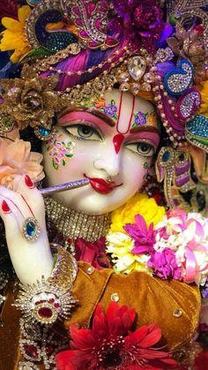 Image may contain: 1 person, flower Hare Krishna, Krishna Leela, Krishna Statue, Jai Shree Krishna, Lord Krishna Images, Radha Krishna Pictures, Radha Krishna Love, Radha Rani, Krishna Photos