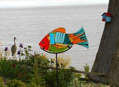 Tammy Hudgeon is the artist of this Glass Art on Gabriola Island BC Canada.