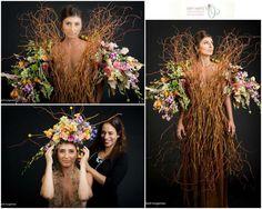 """Days of bloom"" by Orit Hertz - floral designer Photography: Ilanit Turgeman  Hair & makeup: Lilach Zargary Model: Ira Kaufman"