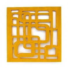 Wall Art : MDF Wall Art Plaque 8x8 Fretwork 16598-OR- $49