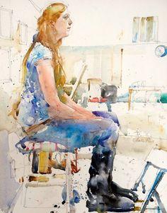Charles Reid - Watercolor Figurative Paintings by Charles Reid <3 <3