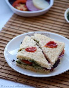 Bombay Veg Sandwich Recipe - A Popular Indian Street Food - #recipes #snack #breakfast - blendwithspices.com