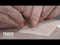 Metal Clay Artist - Valerie Bealle   Video   Setting Small CZs in Metal Clay   Cool Tools