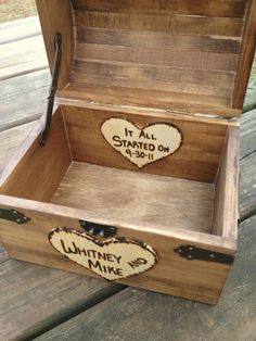 Shabby Chic and Rustic Wooden Card Box - Rustic Wedding Card Box - Rustic Wedding Decor - Advice Box - Guestbook