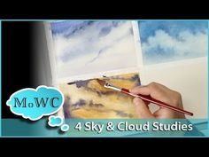 I paint 4 quick watercolor sky and cloud studies to brush up on my sky painting techniques. Landscape studies are a great way to test techniques, solve probl. Watercolor Clouds, Watercolor Video, Watercolour Tutorials, Watercolor Techniques, Watercolor Landscape, Painting Techniques, Watercolor Paintings, Watercolor Lesson, Watercolor Artists