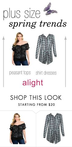 spring trends in plus sizes by alight-com on Polyvore featuring Spring, plussize, plussizefashion, plussizeclothing and Spring2017