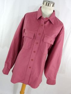 Vintage LL Bean Chamois Cloth Shirt Womens 18 XL 1X Dusty Rose Pink Button Down Front Thick Warm Long Sleeve Classic R2 by AmazingTasteVintage on Etsy
