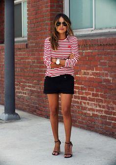 Striped t-shirt  #tshirt #shoes
