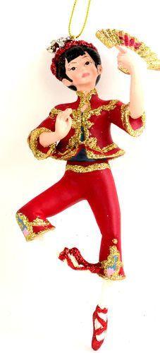 "images of nutcracker ballet christmas ornaments | Nutcracker Ballet Chinese Tea Lady Dancer 6"" Resin Christmas Ornament ..."