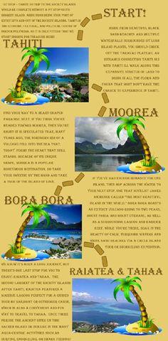 "This blog post highlights the Society Islands' ""hidden gems"" by providing a visual, content-rich map to four destinations: Tahiti, Moorea, Bora Bora, and Raiatea."