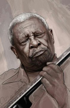 King of the blues. My man, Mr. B.B. King.   Miss you much.