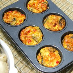 Eggs + veggies = balanced grab-and-go breakfast!